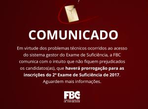 FCB Exame de suficiencia