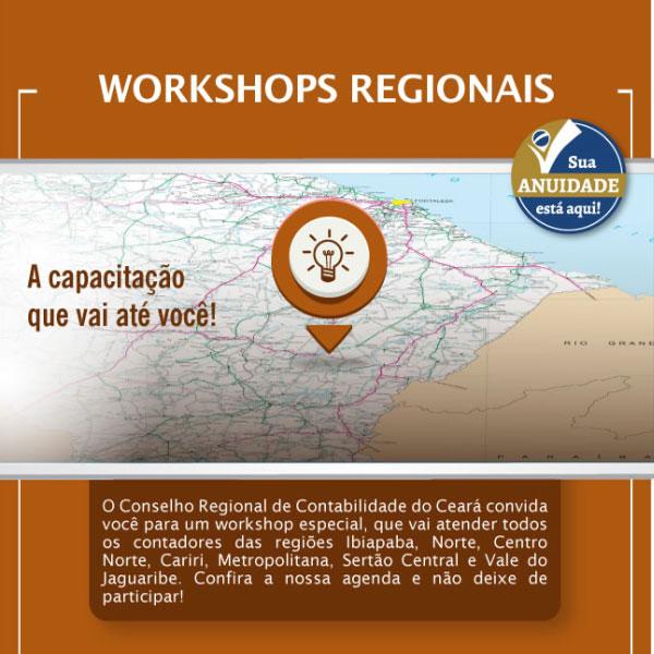 CRC/CE promove workshops em cidades do interior