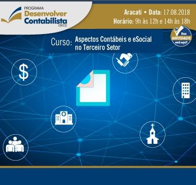 Curso: Aspectos Contábeis e eSocial no Terceiro Setor – Aracati – 17/08/2018