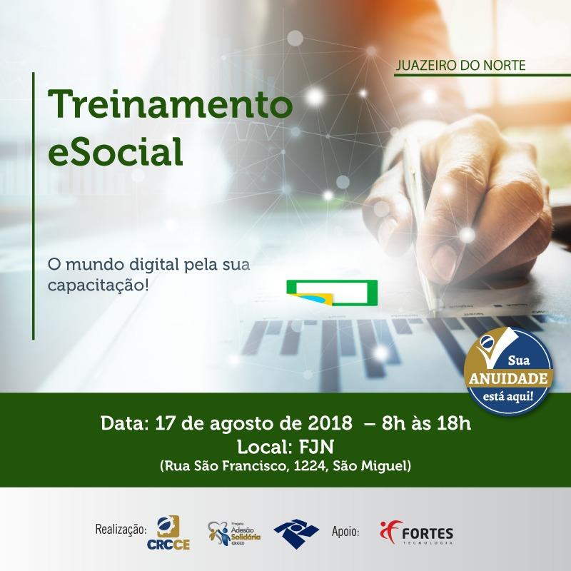 Treinamento eSocial – Juazeiro do Norte – 17/08/2018