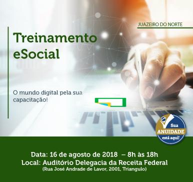 Treinamento eSocial – Juazeiro do Norte – 16/08/2018