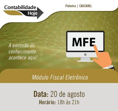 Contabilidade Hoje – Módulo Fiscal Eletrônico Cascavel – 20/08/2018