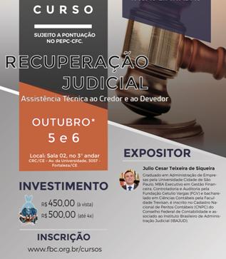 Curso – Recuperação Judicial – Fortaleza – 05 e 06 de Outubro
