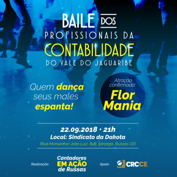 Convite – Baile dos Profissionais da Contabilidade do Vale do Jaguaribe – 22/09/2018