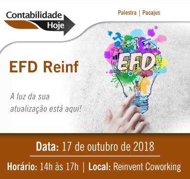 Palestra: EFD Reinf – 17/10/2018 – Pacajús