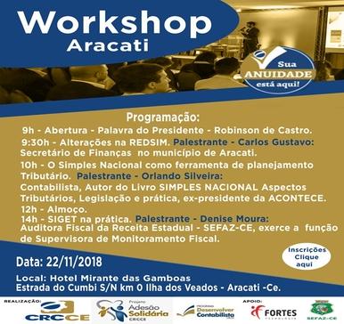 Workshop CRCCE Vale do Jaguaribe – 22/11/2018