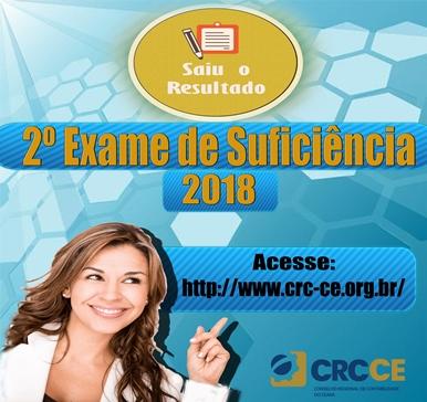Resultado 2 Exame Suficiencia 2018