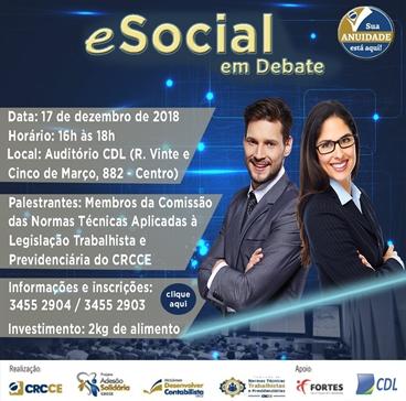Palestra eSocial em Debate – 17/12/2018 – Fortaleza – Auditório do CDL