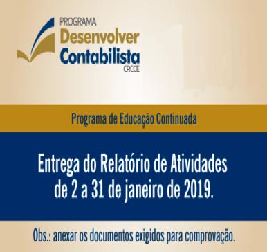 Programa de Educação Continuada – Prazos para entrega do relatório de atividades
