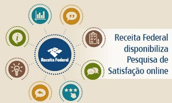 Receita Federal disponibiliza Pesquisa de Satisfação online