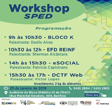 Workshop SPED – 23/01/2019 – Fortaleza