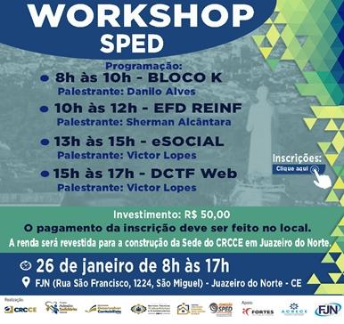 Workshop SPED – Novidades 2019! – 26/01/2019 – Juazeiro do Norte