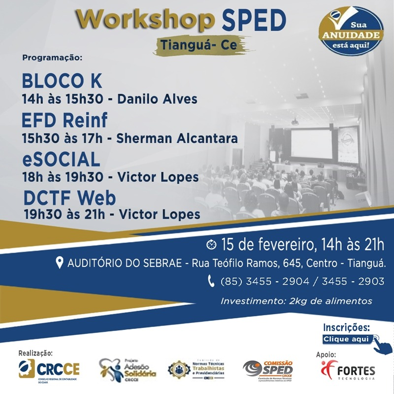 CRCCE promove capacitações sobre Imposto de Renda e SPED