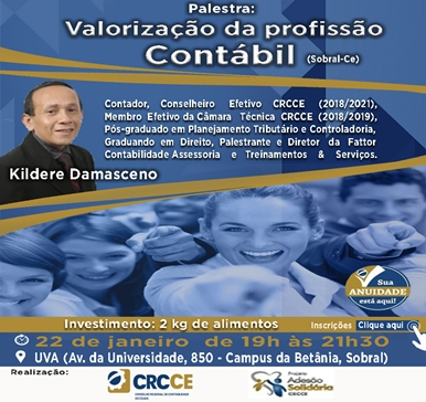 Palestra: Valorização da Profissão Contábil – 22/01/2019 – Sobral