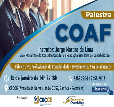 Palestra COAF – 15/01/2019 – Fortaleza
