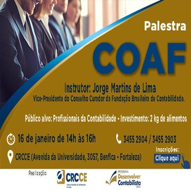Palestra COAF – 16/01/2019 – Fortaleza
