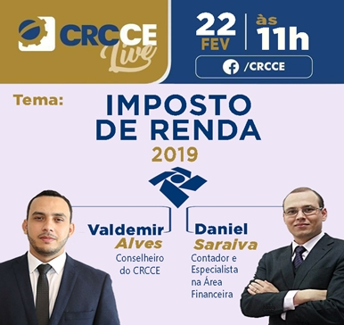 CRC-CE Live: Imposto de Renda 2019 – 22/02/2019 11:00h