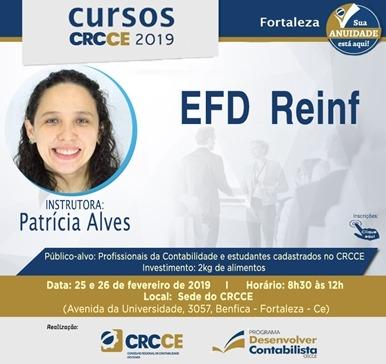 Curso: EFD Reinf – 25 e 26 de Fevereiro de 2019