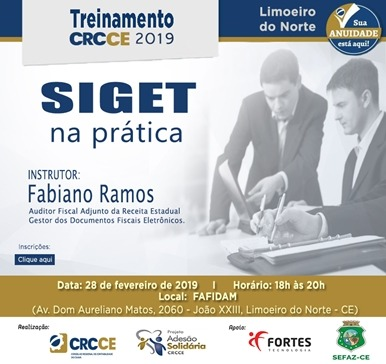 Treinamento SIGET na prática – 28/02/2019 – Limoeiro do Norte