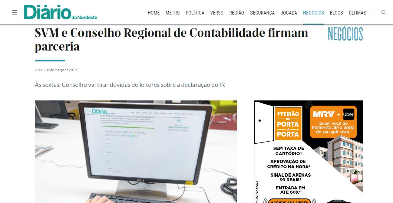 SVM e Conselho Regional de Contabilidade firmam parceria