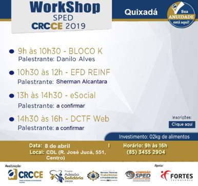 Workshop SPED 2019 – 08/04/2019 – Quixadá