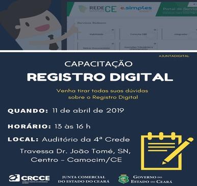 Capacitação – Registro Digital – 11/04/2019 – Camocim
