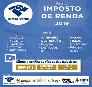 Palestra Imposto de Renda 2019 –  vídeos das palestras