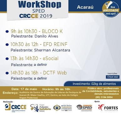 Workshop SPED – Acaraú (17/05/2019)