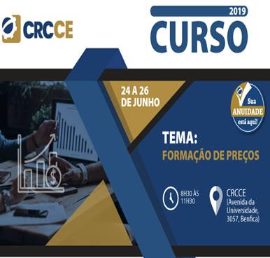 Curso – Formação de Preços – Sede do CRCCE 24 a 26 junho 2019