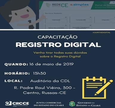 Capacitação Registro Digital – 16/05/2019 Russas