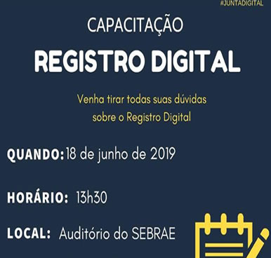 Capacitação Registro Digital – 18/06/2019 – Iguatu