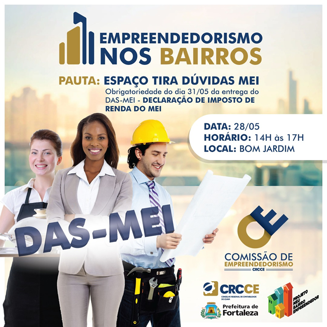 CRCCE promove atendimento para declaração anual do MEI no Bom Jardim