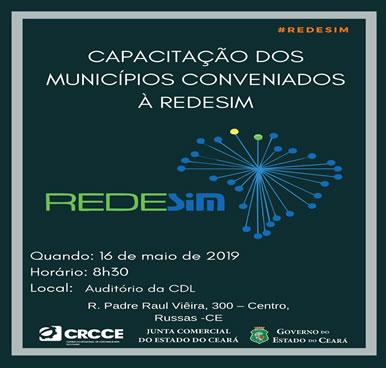 Capacitação dos Munícipios Conveniados a Redesim – 16/05/2019 Russas