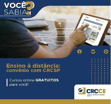 Você sabia? Ensino à distância – Convênio com CRCSP – Cursos online GRATUITOS para você