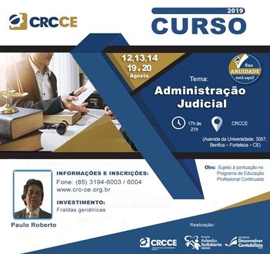 Curso: Administração Judicial – 12,13,14,19 e 20/08 – Fortaleza