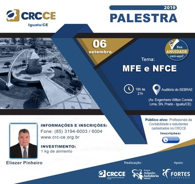 Palestra: MFE e NFCE – 06/09/2019 – Iguatu