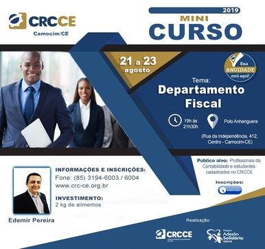 MiniCurso: Departamento Fiscal – 21 a 23/08/2019 – Camocim