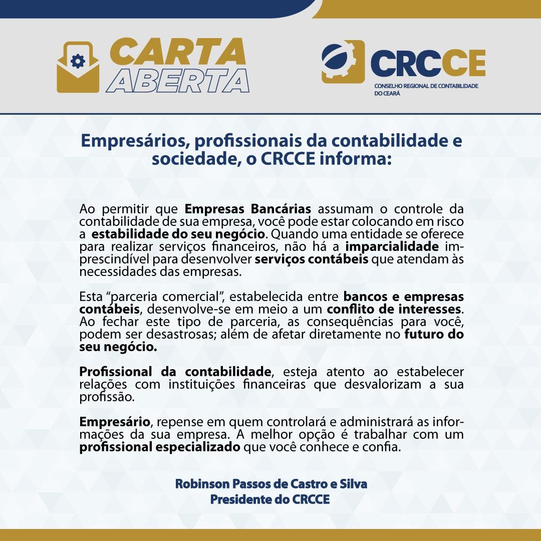 Empresários, profissionais da contabilidade e sociedade, o CRCCE informa