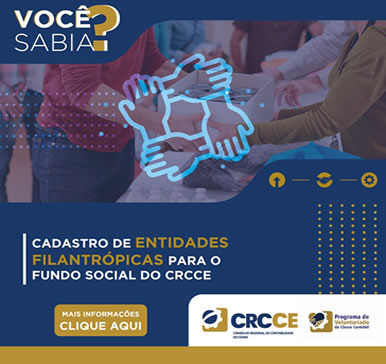 Cadastro de Entidades Filantrópicas para o fundo social do CRCCE