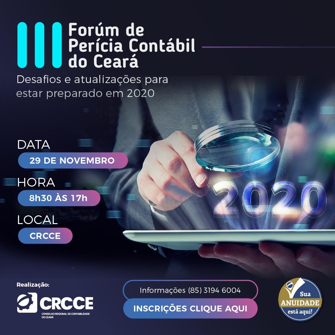 CRCCE promove 3ª edição do Fórum de Perícia Contábil do Ceará