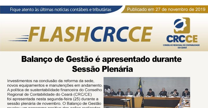 Flash CRCCE – 27/11/19
