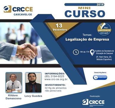 Minicurso: Legalização de Empresa – 13/12/2019 – Cascavel
