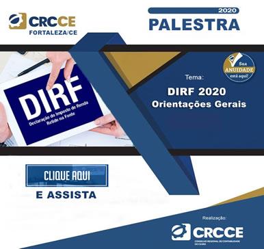 Palestra: DIRF 2020 – Orientações Gerais – 12/02/2020 – Clique e assista!