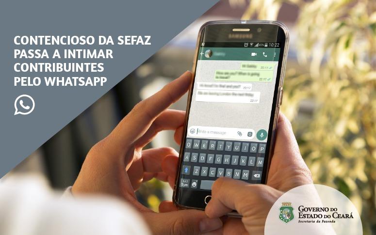 Contencioso da Sefaz passa a intimar contribuintes pelo WhatsApp