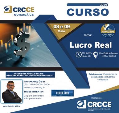 Curso: Lucro Real – 08 e 09/05/2020 – Quixadá