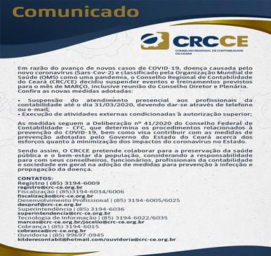 Comunicado CRC-CE