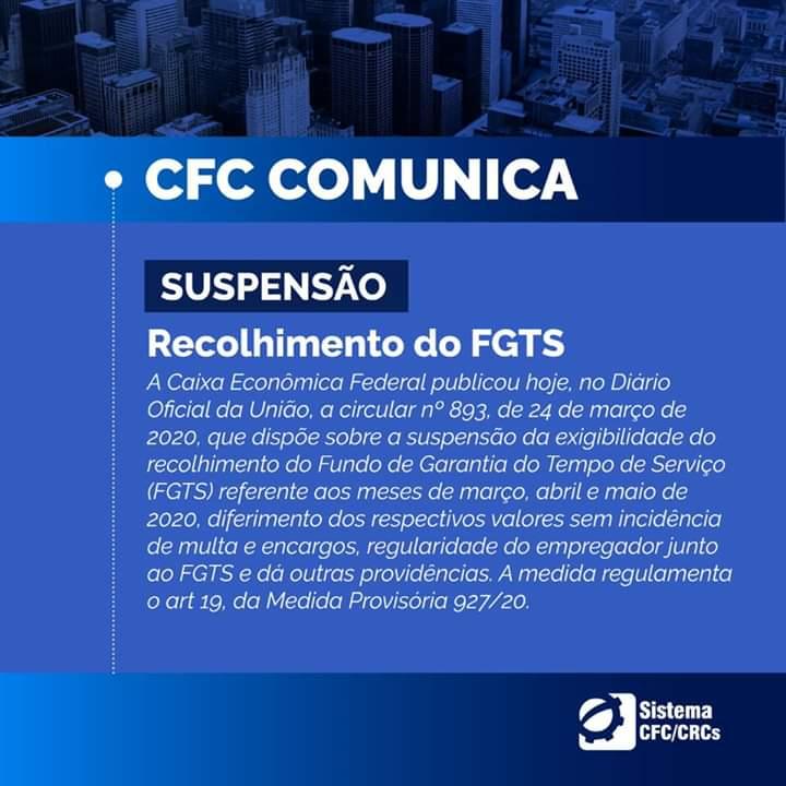 Pagamento do FGTS poderá ser postergado pelas empresas