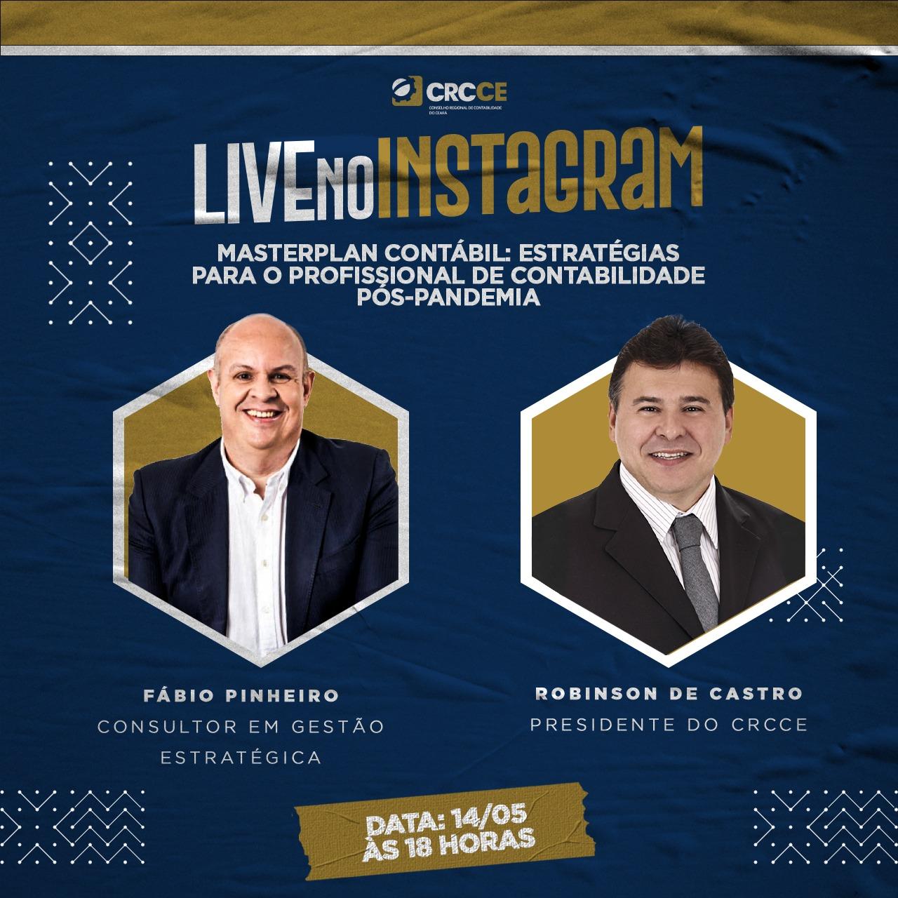 CRCCE apresenta projeto Master Plan Contábil duranteLive no Instagram