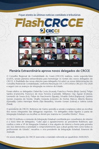 Flash CRCCE – Plenária Extraordinária aprova novos delegados do CRCCE