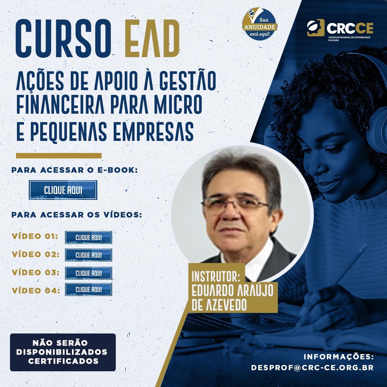 Curso EAD – Ações de apoio a Gestão Financeira para Micro e Pequenas Empresas
